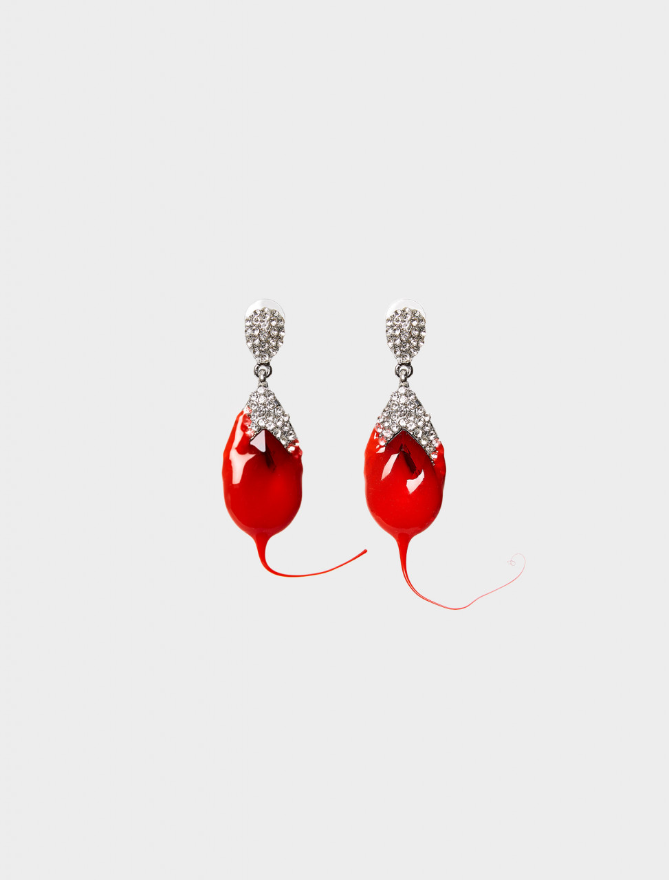 318-FW20AW20AC-07A OTTOLINGER Dipped Earrings in Dark Red