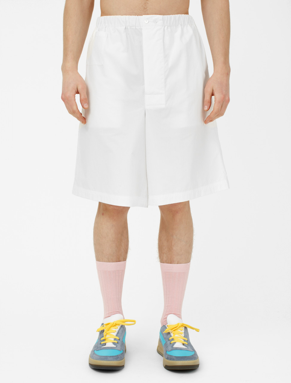 Light Cotton Shorts in White