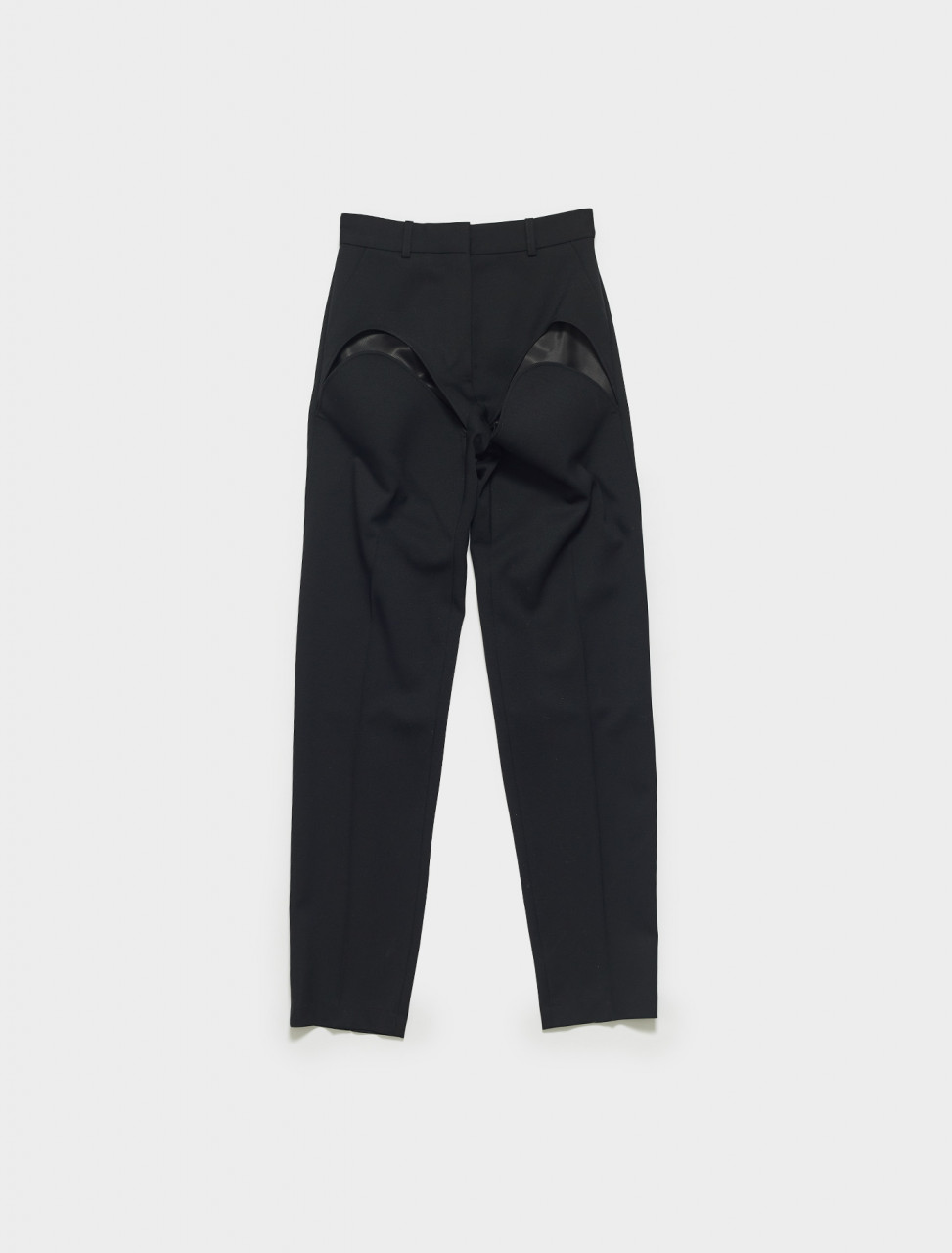 WPANT9-S20 Y PROJECT CLASSIC FRONT CUT PANT IN BLACK