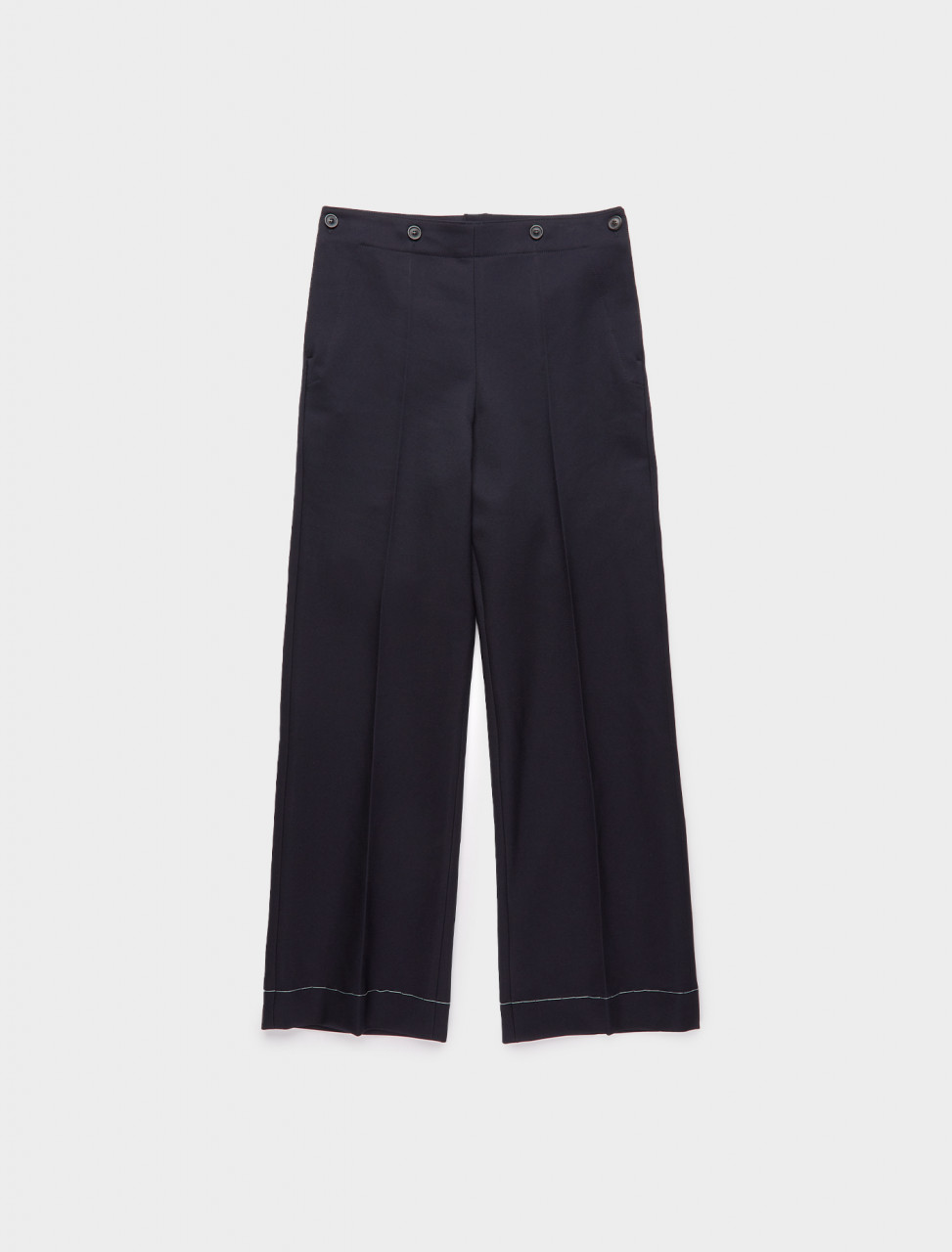 256-S30KA0594-S52332-510 MAISON MARGIELA WIDE LEG TROUSER DARK BLUE