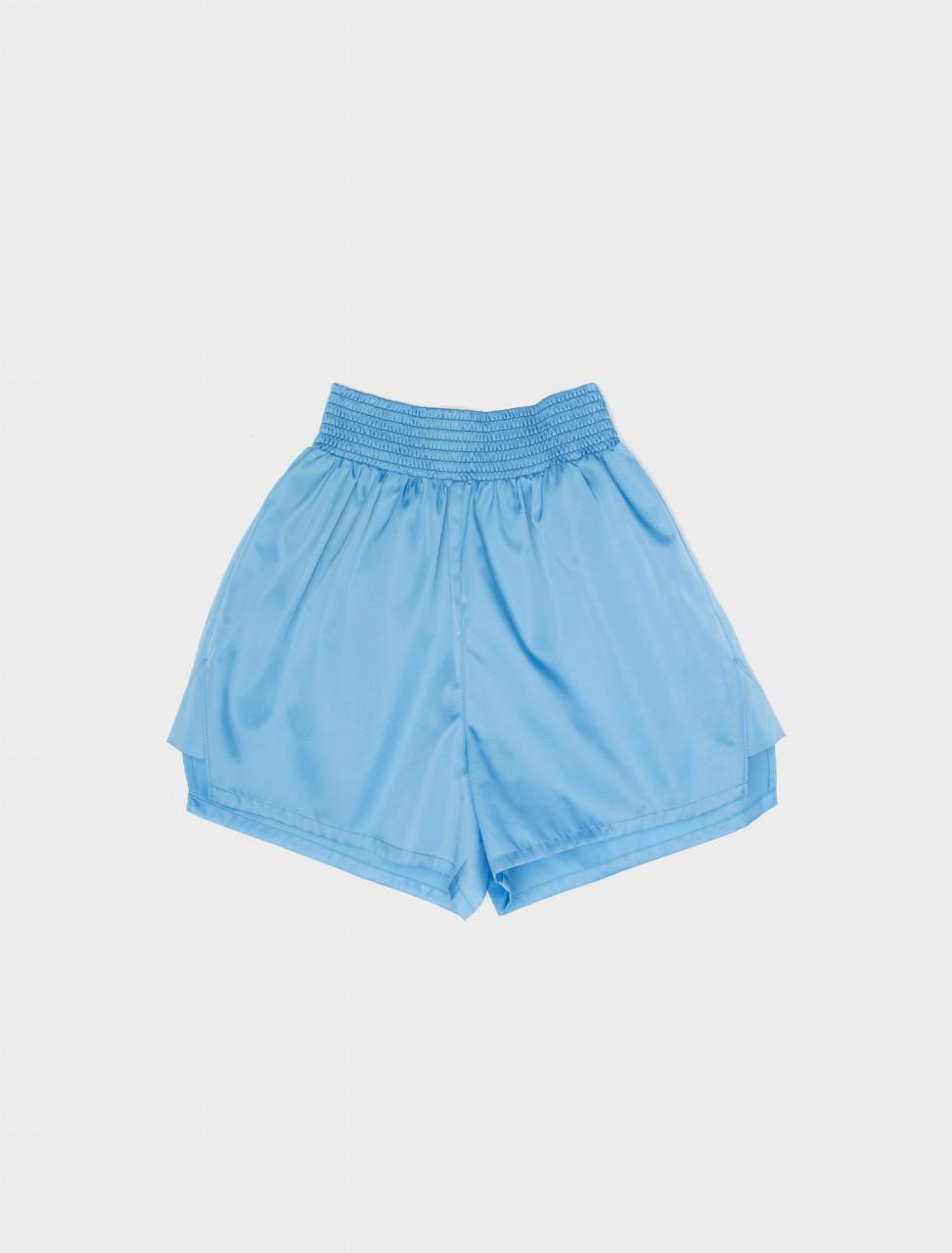 Nylon Gabardine Shorts in Azure