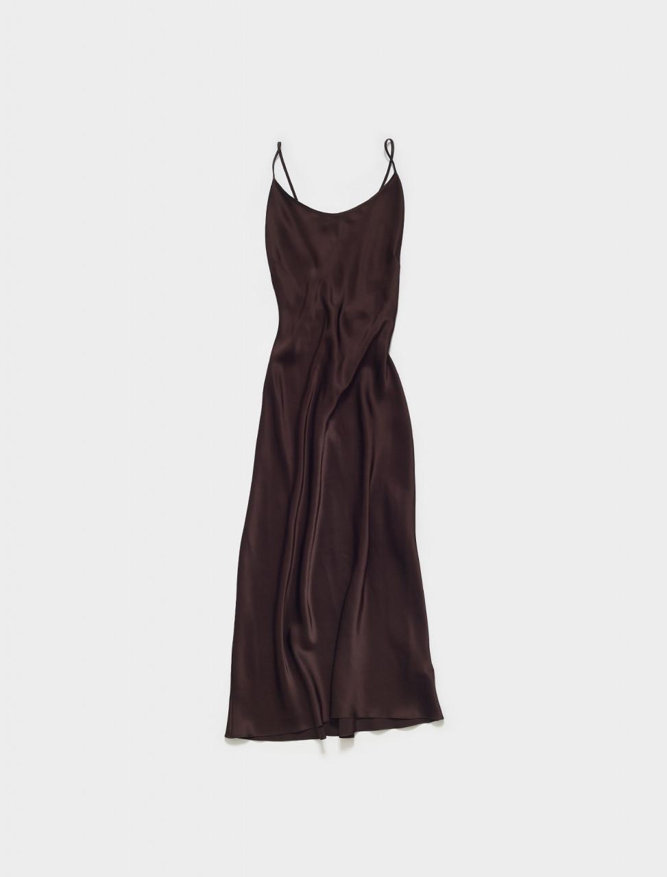 332-3053-DC PRISCAVERA OPEN BACK KEYHOLE DRESS IN DARK CHERRY