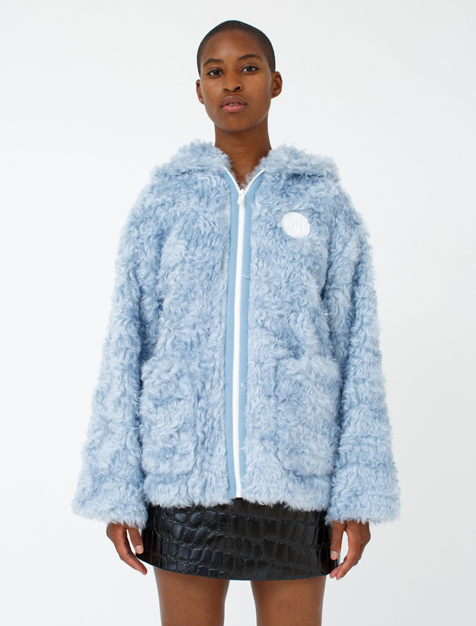 Oversized Eco-Fur Hooded Pullover