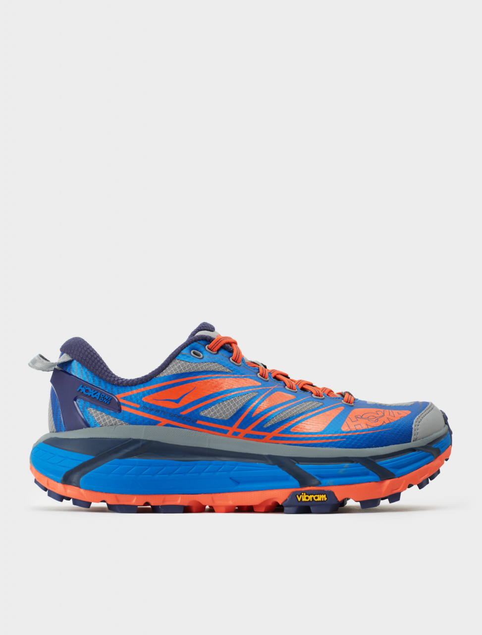 Hoka One One MAFATE SPEED 2 Sneaker in Imperial Blue/Mandarin Red