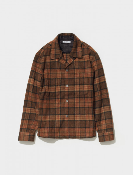 M4212HFB OUR LEGACY HEUSEN SHIRT IN FOX BROWN CHECK