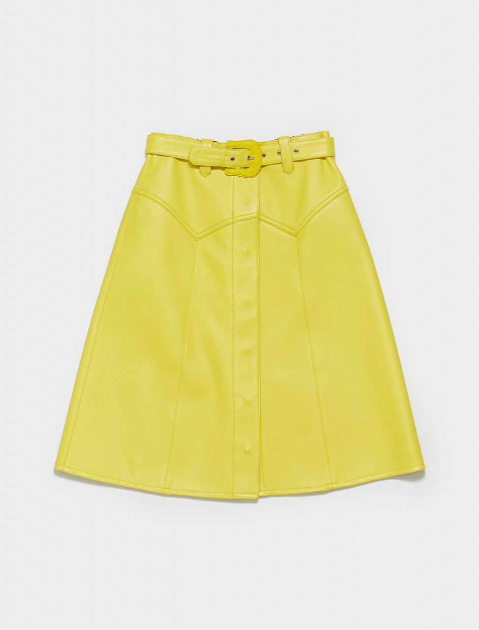 S29MA0375-SY1337-173 MAISON MARGIELA SKIRT IN YELLOW
