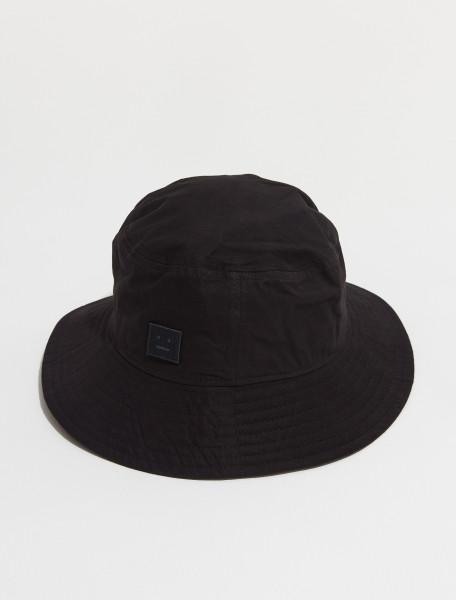 C40170 900 FA UX HATS000104 ACNE STUDIOS BUKO LIGHT TWILL FACE BUCKET HAT IN BLACK