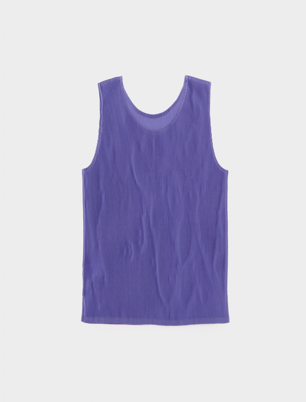 286-PP08FK292-80 ISSEY MIYAKE PLEATS PLEASE SLEEVELESS TOP LIGHT PURPLE