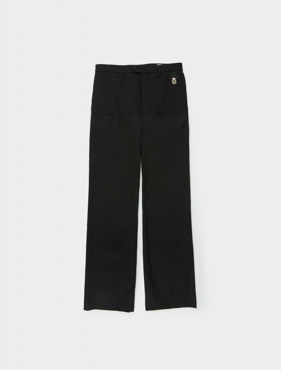 Raf Simons Straight Fit Pants with Horizontal Cut Front