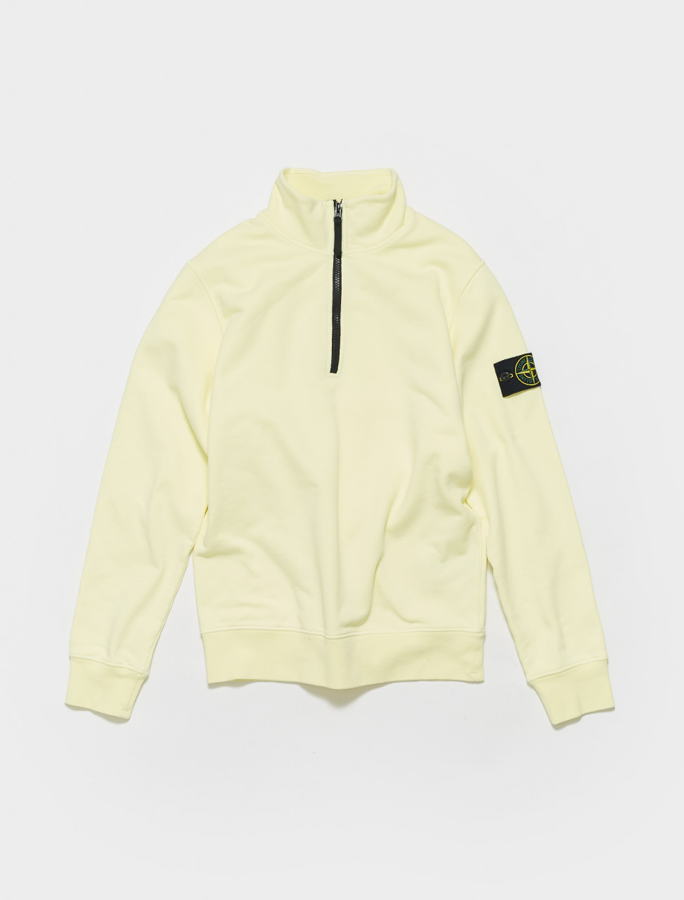 MO741561951-V0031 STONE ISLAND ZIP UP SWEATER IN LIGHT YELLOW