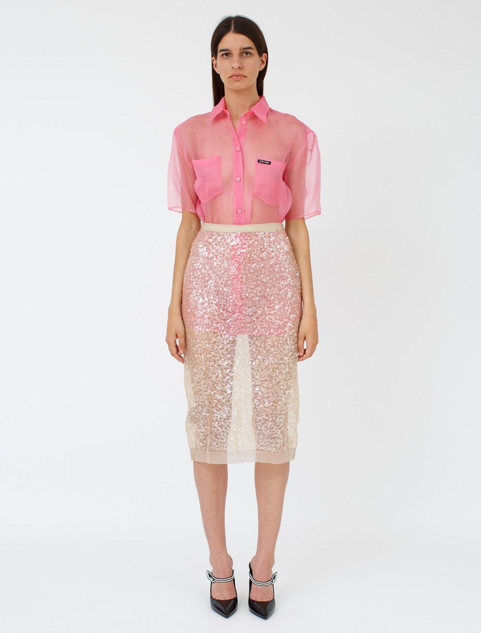 Sequin Nylon Skirt