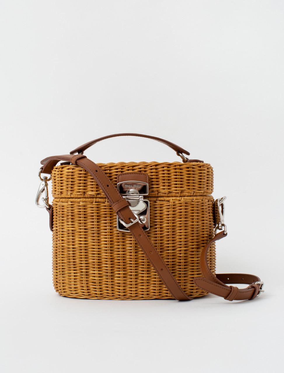 Miu Miu Wicker Bandoliera Bag