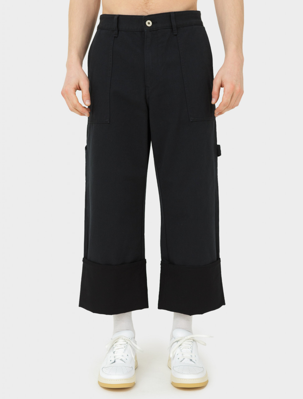 Turn Up Patch Pocket Trouser