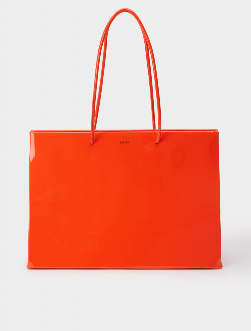326-20SMEBO048 MEDEA DIECI VINYL SHOPPING BAG SCARLET