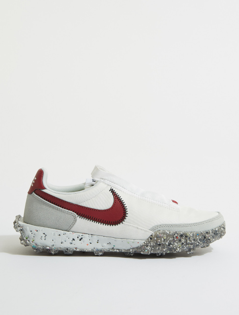 CT1983-103 NIKE WAFFLE RACER CRATER IN SUMMIT WHITE & RED