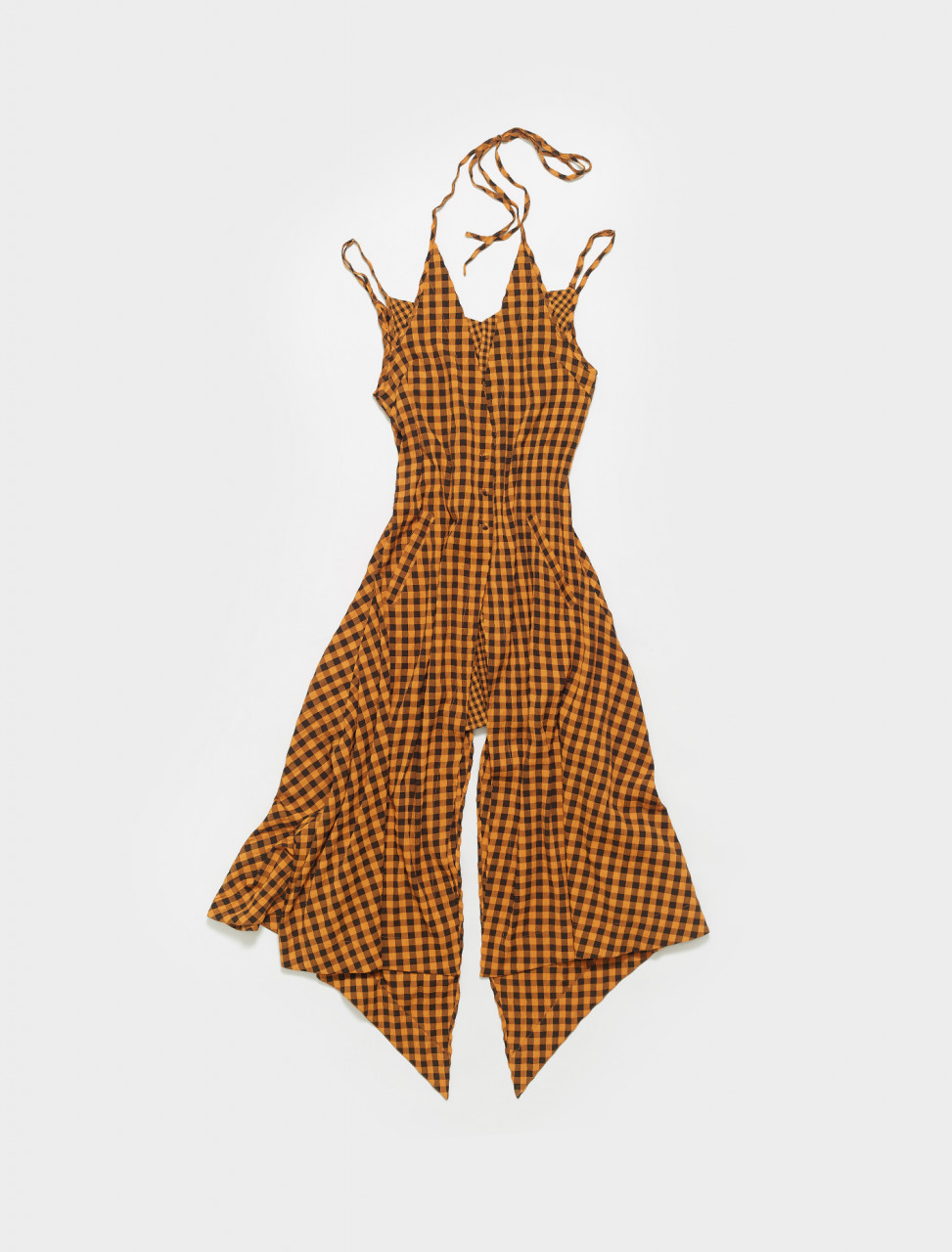 1019-EL-SS21-TL ECKHAUS LATTA DOUBLE DRESS IN TIGER LILY