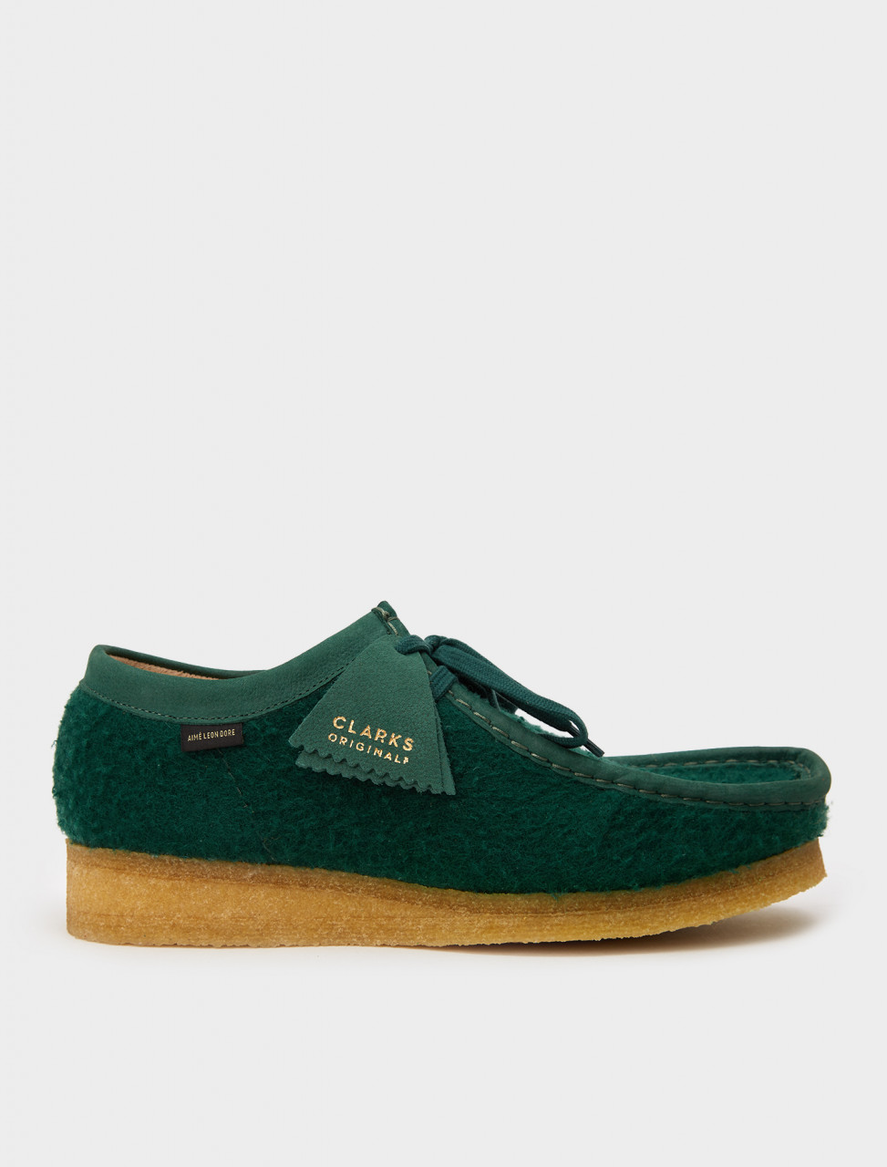 334-26160880 CLARKS AIME LEON DORE WALLABEE DARK GREEN WOOL