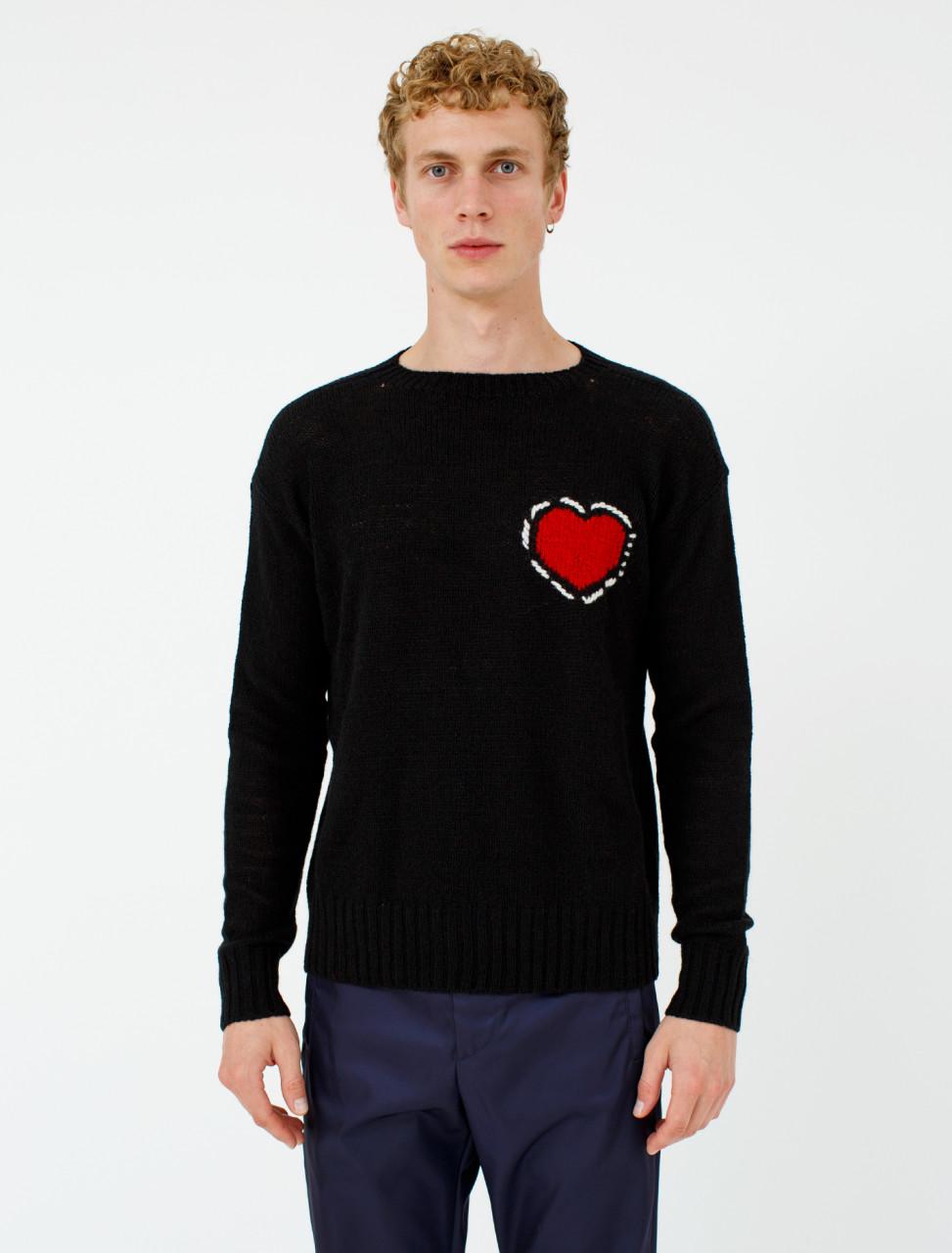 Shetland Wool Heart Knit