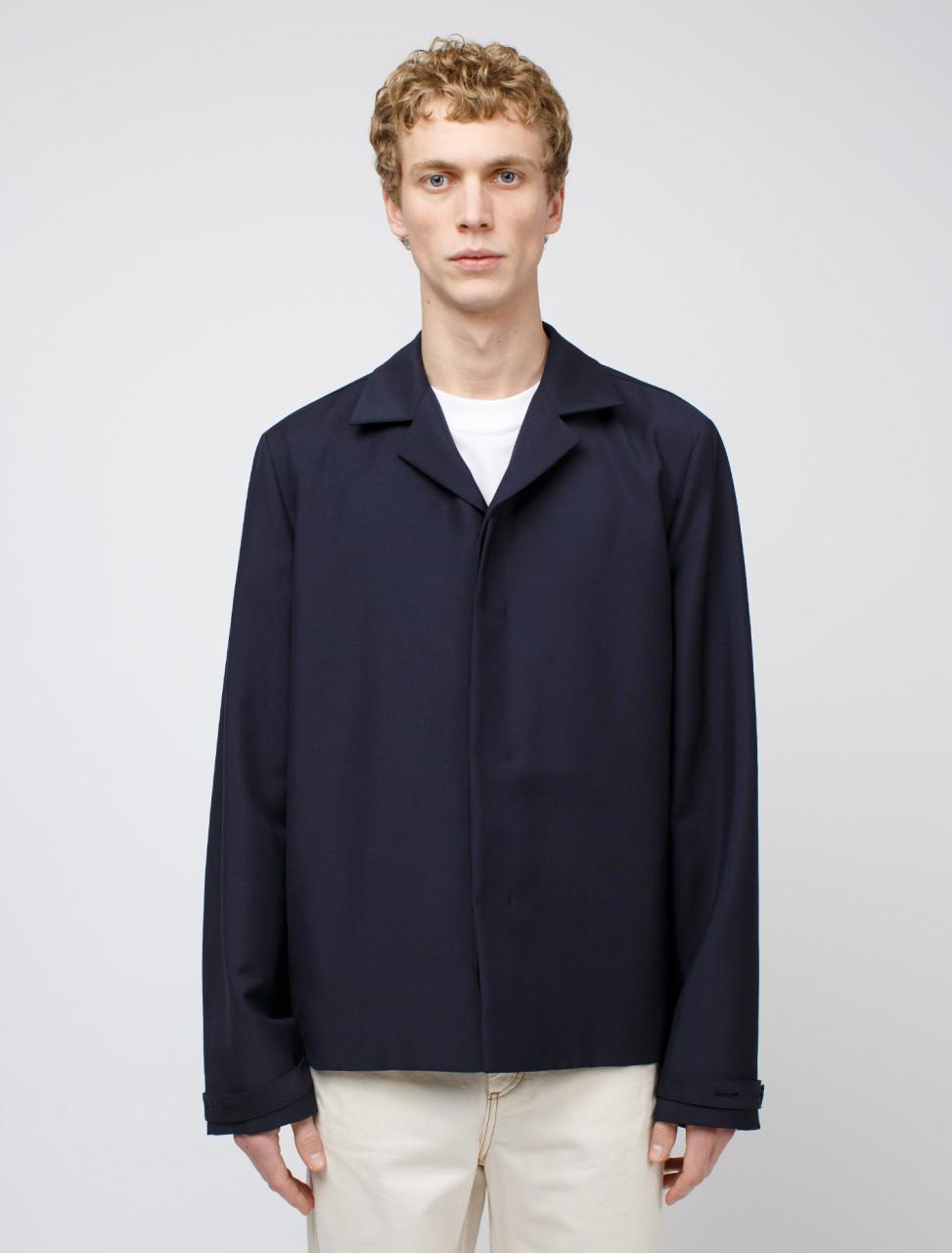 Shirt Jacket in Dark Blue
