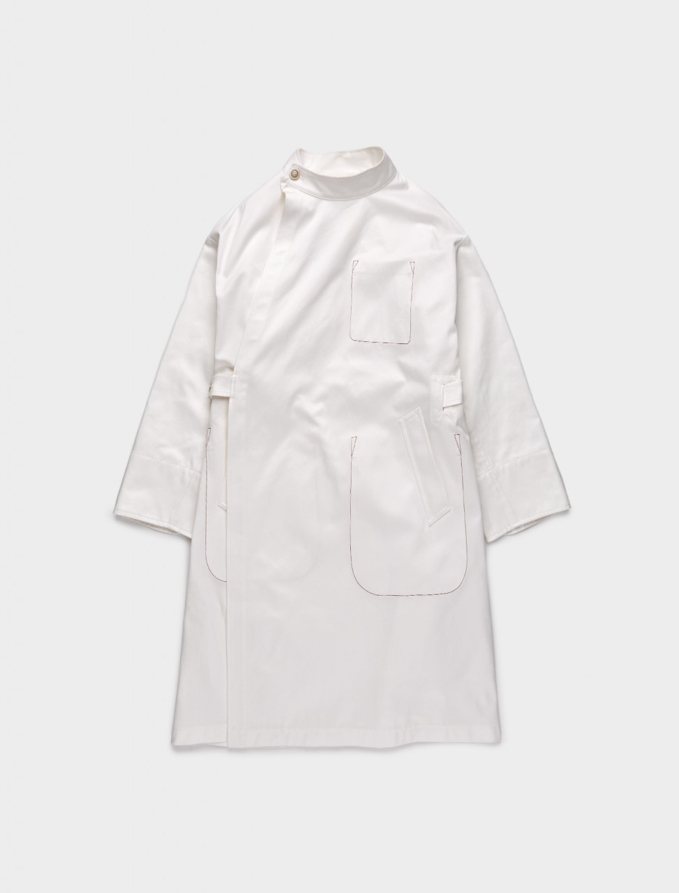 256-S30AH0140-S53228-101 MAISON MARGIELA COTTON LAB COAT OFF WHITE
