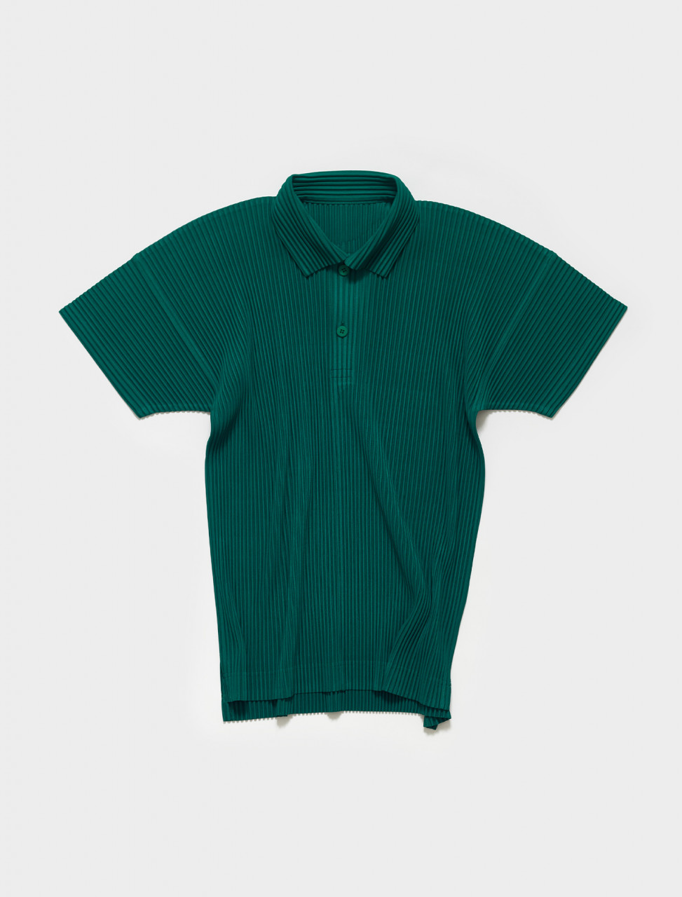 HP16JM127-63 HOMME PLISSE ISSEY MIYAKE Pleated Polo in Viridian Green