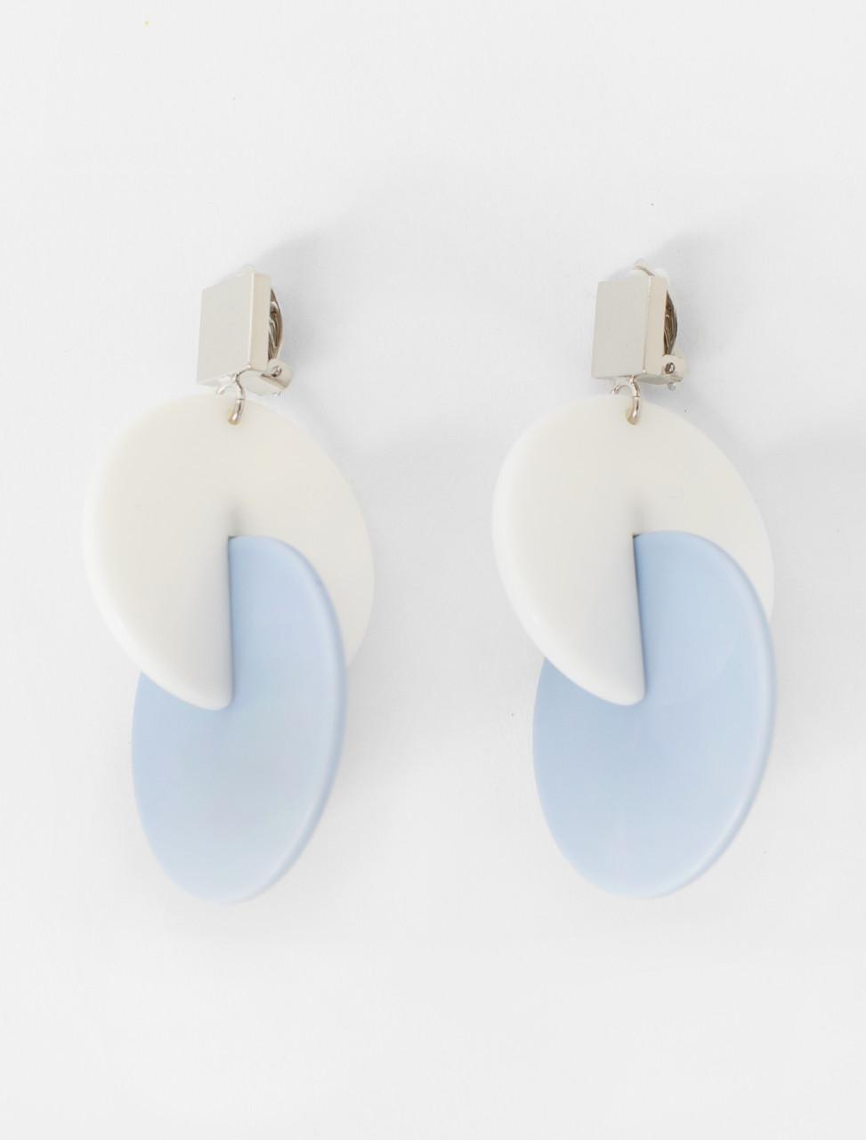 Resin Earrings in Sky Blue