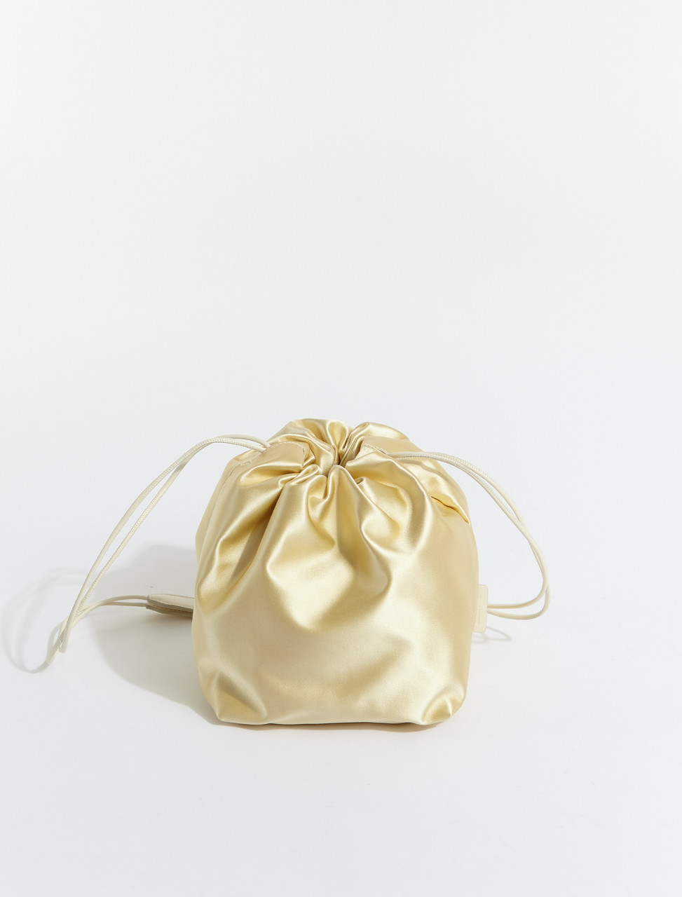 JSPS853407-WSB00090N-269 JIL SANDER DRAWSTRING CROSSBODY IN MEDIUM BEIGE