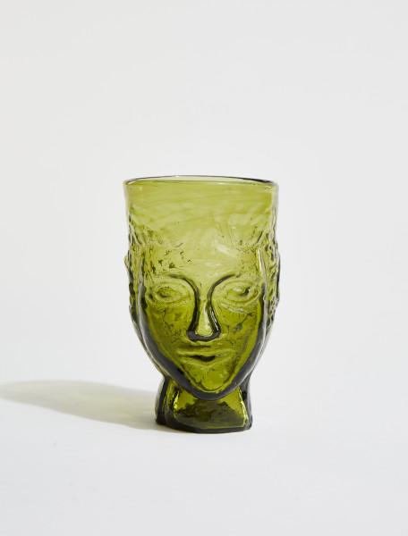 87DOLIVE LA SOUFFLERIE TETE GLASS IN OLIVE
