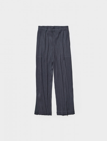 PP18JF144 14 PLEATS PLEASE ISSEY MIYAKE PLEATED TROUSERS IN CHARCOAL