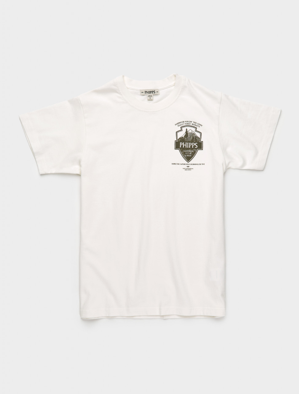 261-PHFW20-N01-A PHIPPS PARK BADGE LOGO T SHIRT WHITE