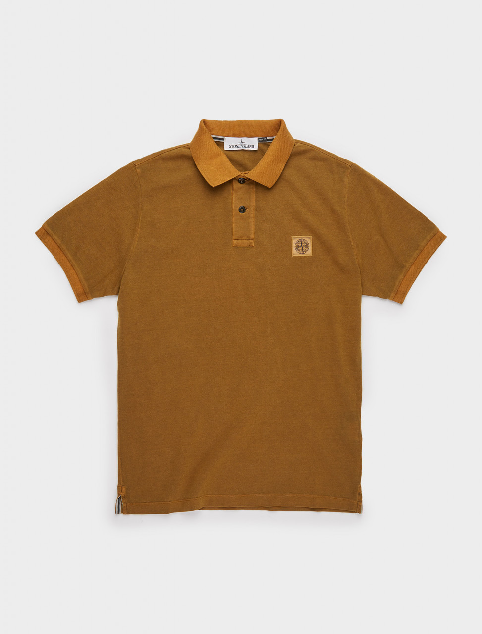 241-MO731522S67-V0071 STONE ISLAND POLO SHIRT IN TOBACCO