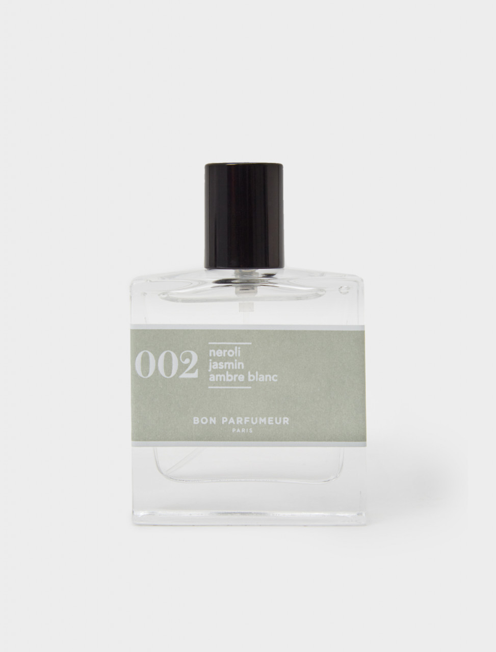 Front view of Bon Parfumeur n#002 30 ml perfume bottle (Neroli, Jasmine, White Amber)