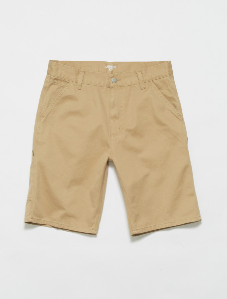 I024892-07E CARHARTT WIP RUCK SINGLE KNEE SHORTS IN DUSTY H BROWN