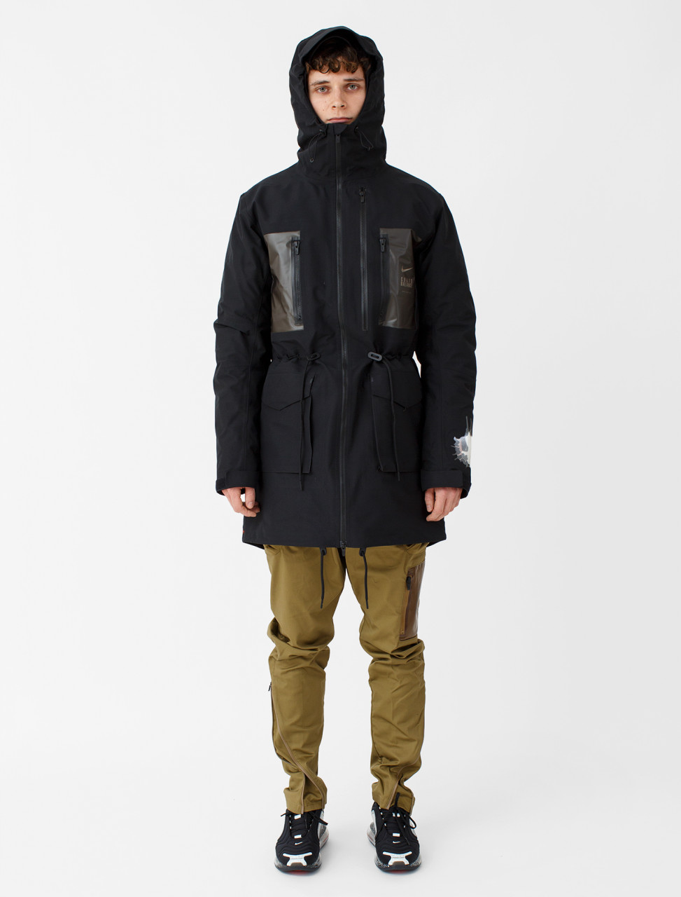 x Undercover Fish-Tail Parka in Black