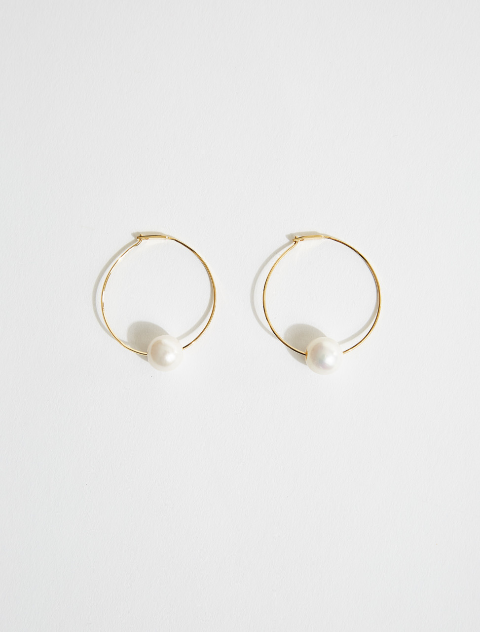 JSPS837124-WSS80048-102 JIL SANDER STEM EARRINGS IN NATURAL