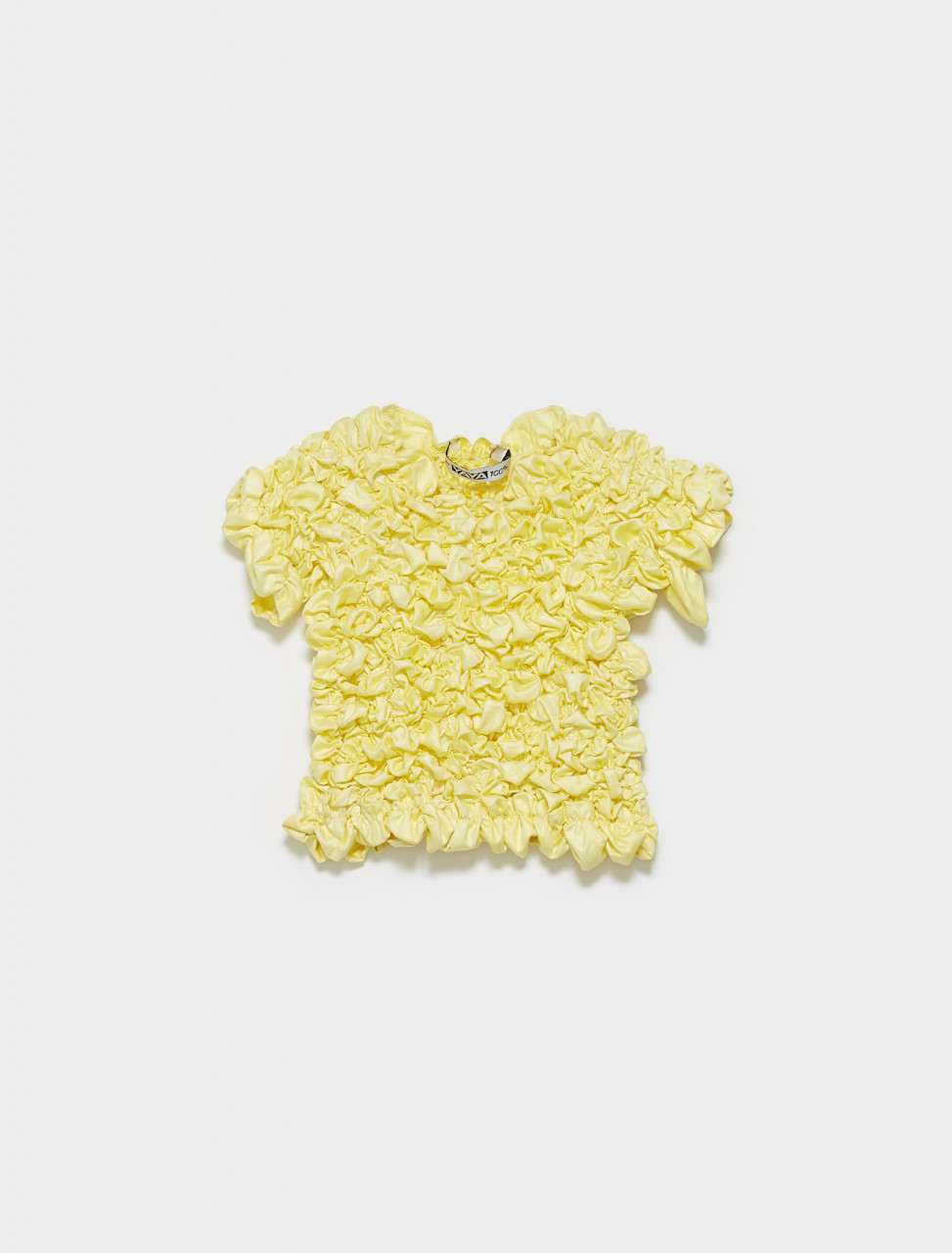 316-T2-SS20-M SUPER YAYA HAND DYED POPCORN TOP IN YELLOW