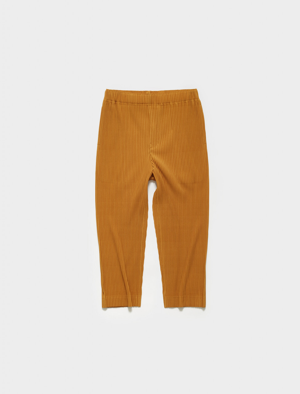 HP16JF123-55 HOMME PLISSE ISSEY MIYAKE Pleated Trousers in Yellow Ochre