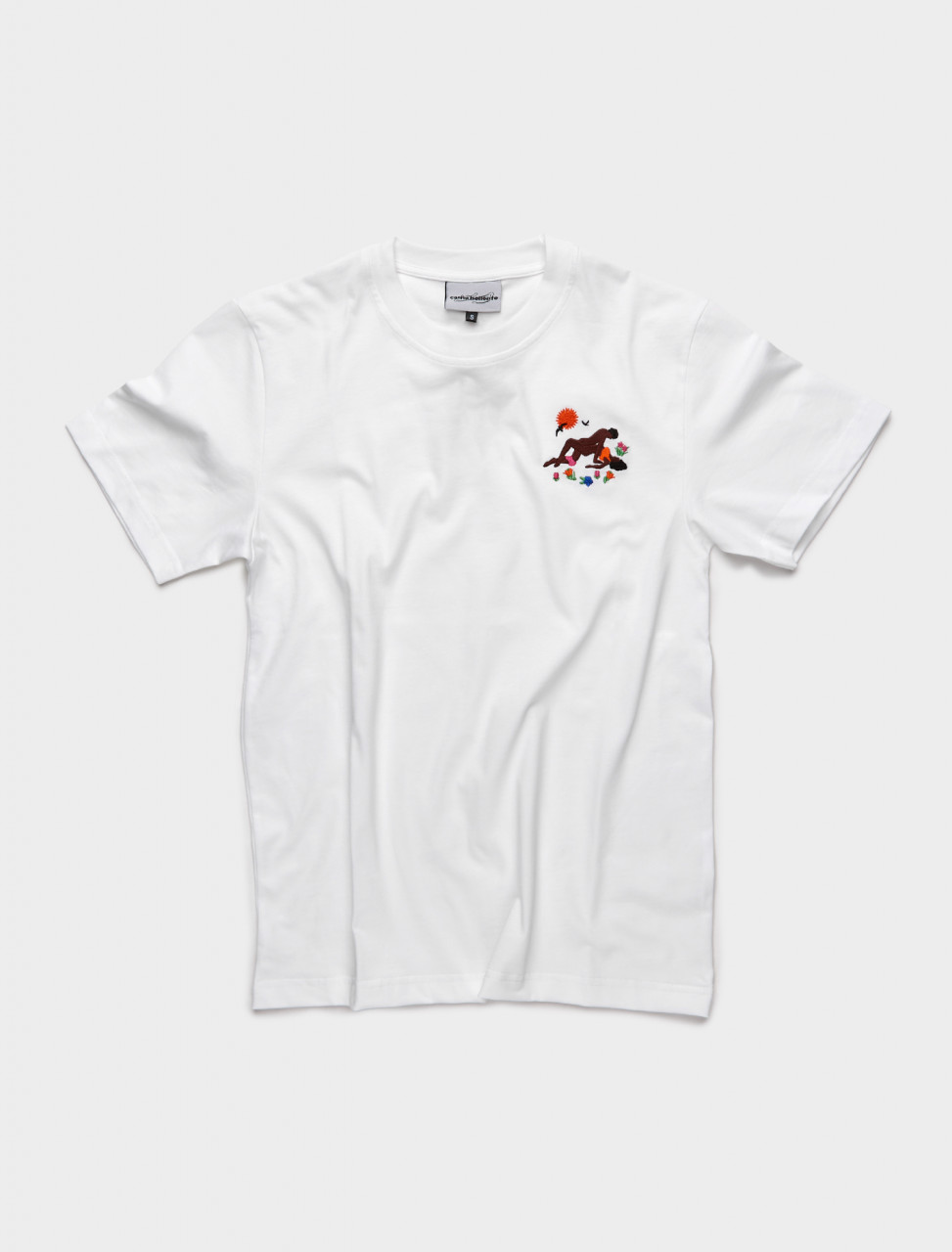 PRESS21TS02-W CARNE BOLLENTE BEG OF ROSES T SHIRT WHITE