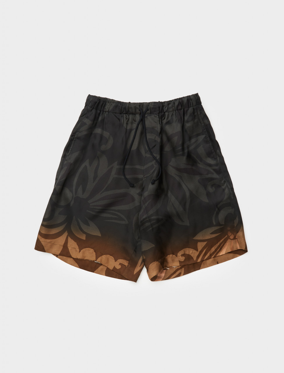 260-202-20966-1065-900 DRIES VAN NOTEN PIPER PRINTED SHORTS BLACK