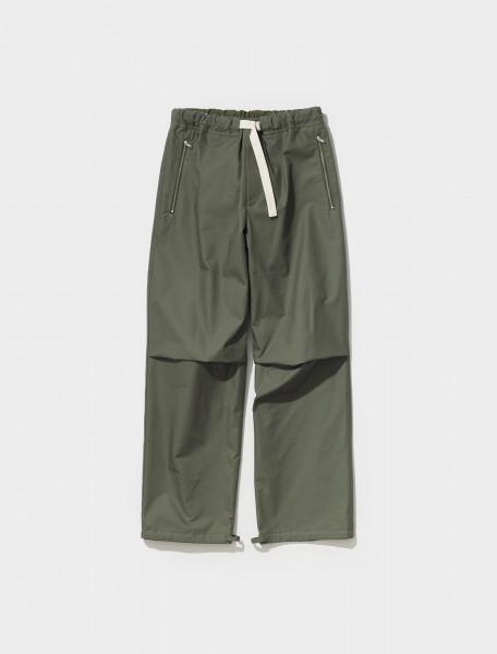 Knee Pleat Trousers in Dark Green