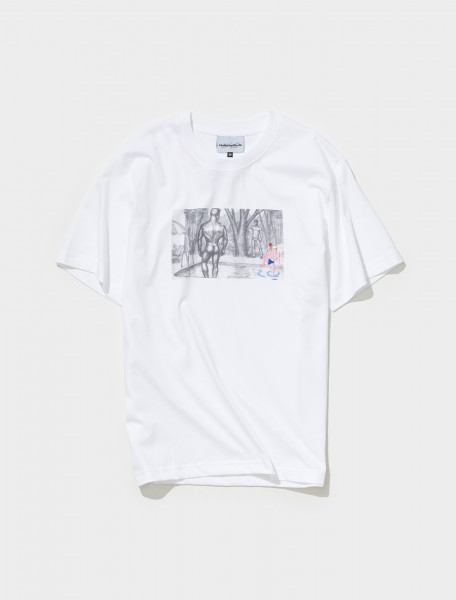 AW21TS11 WHITE CARNE BOLLENTE TOM'S CUMBACK T SHIRT IN WHITE