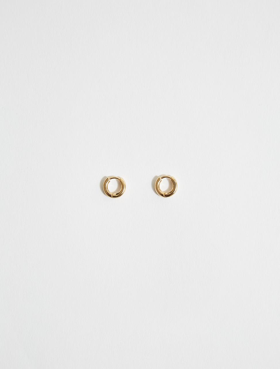 JSMS836064-MSS80018-710 JIL SANDER RIPPLE HOOP EARRINGS IN GOLD