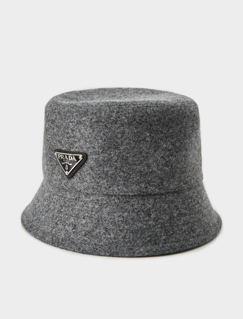 Prada Loden Bucket Hat in Slate Grey