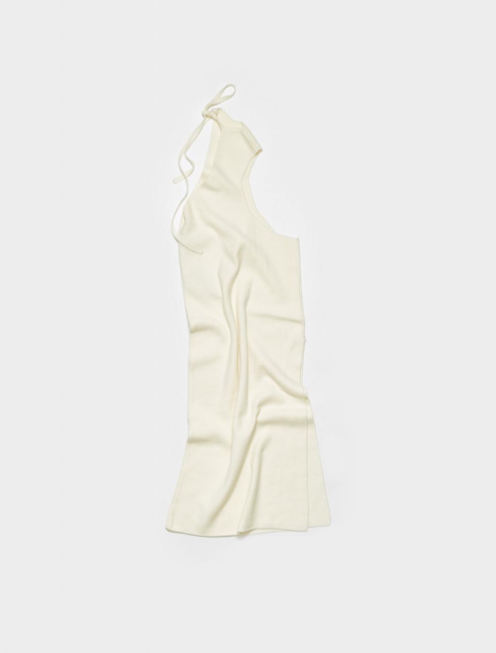 DREMIL ISA BOULDER SPLIT MILK DRESS IN MILK WHITE