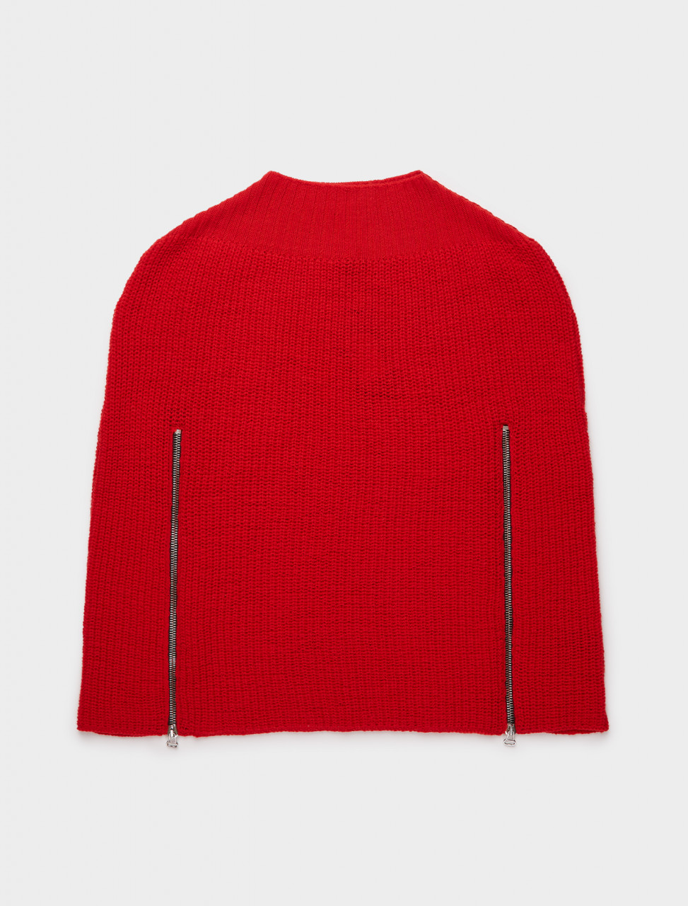 162-202-822-50011-00030 RAF SIMONS TRANSFORMER CAPE W DOUBLE ZIPPERS RED