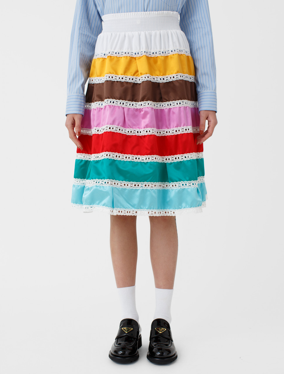 Prada Multicolour Stripe Skirt