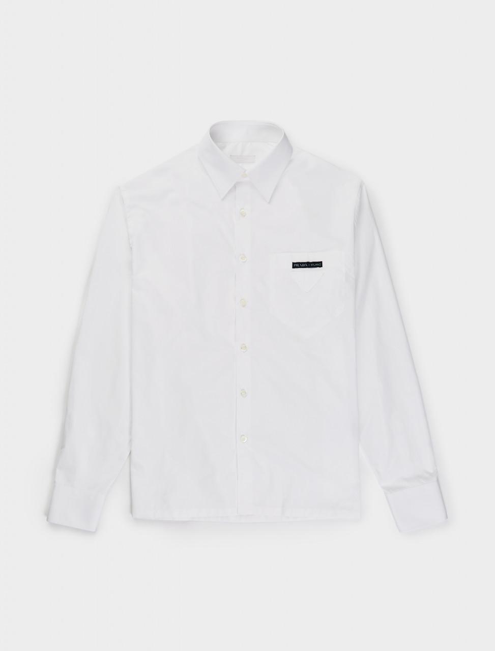 242-UCN300-1W7O-F0009 Prada Light Poplin Shirt in White