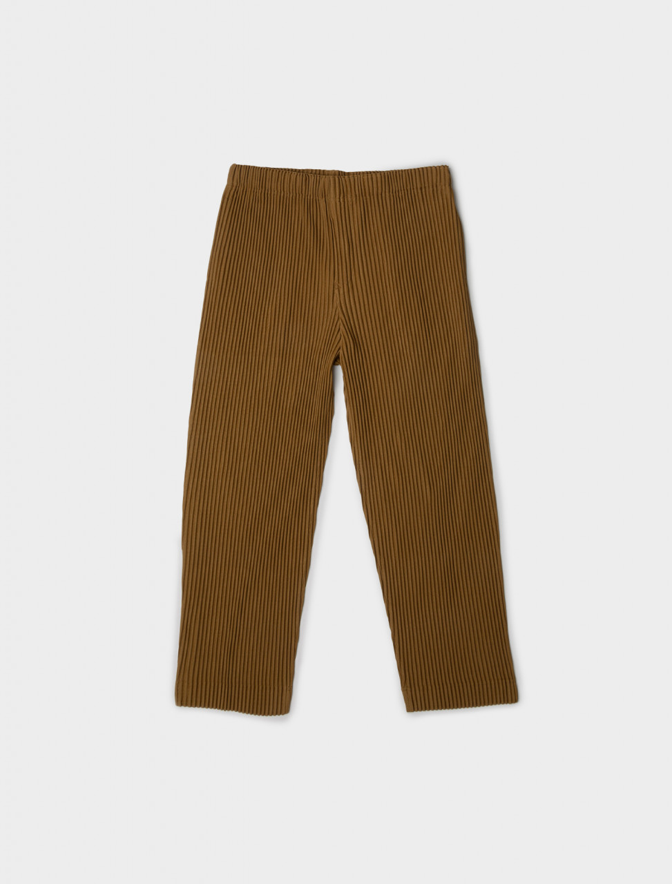 Front view of HOMME PLISSÉ Issey Miyake Pleated Trouser in Clay Brown