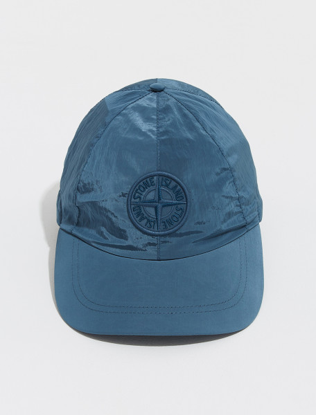 MO751599576_V0023 STONE ISLAND NYLON METAL SIX PANEL CAP IN BLUE
