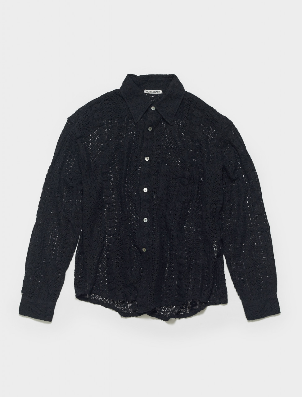 M2212CBC OUR LEGACY COCO SHIRT IN BLACK COTTON CROCHET